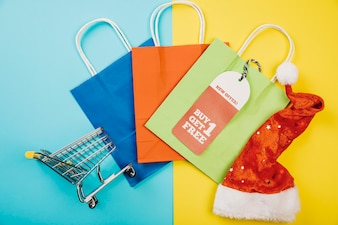 Colorful christmas sales concept