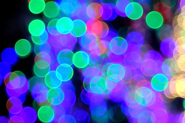 Colorful circle lighting bokeh background