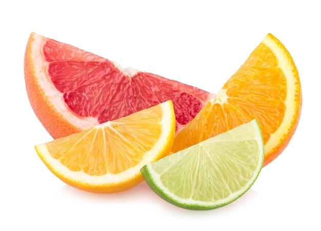 カラフルな柑橘類のスライス