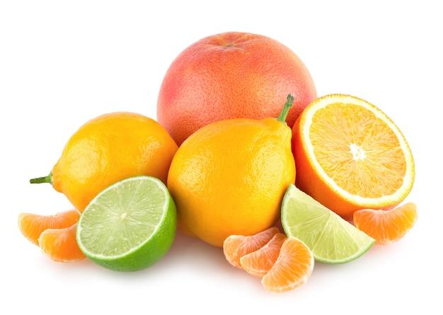 カラフルな柑橘類