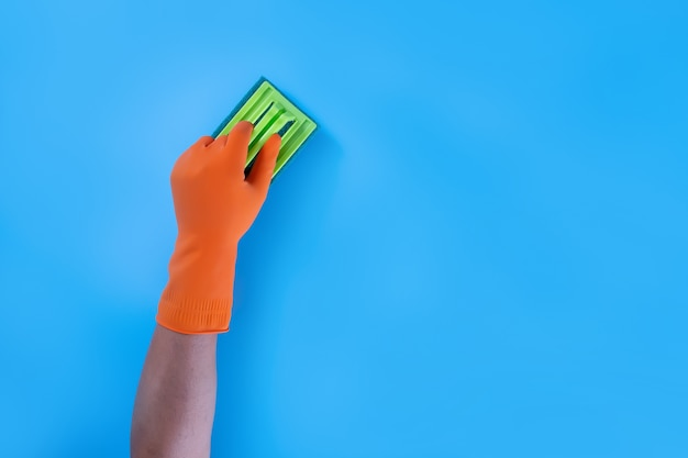 Colorful cleaning kitchen, bathroom and other rooms clean service concept