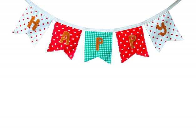 Colorful cloth banner