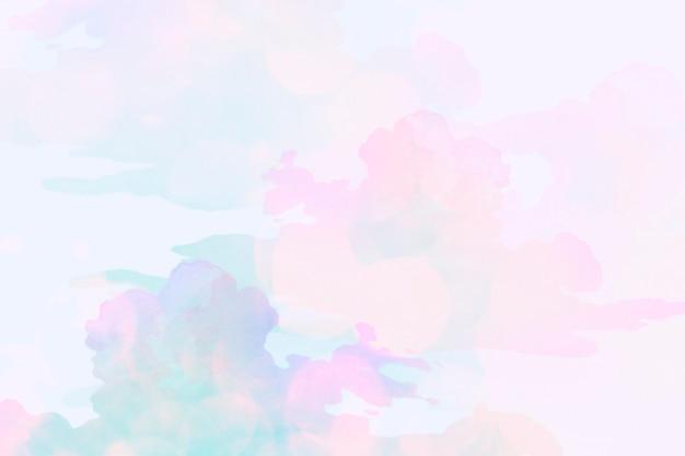 カラフルな曇りの背景デザインリソース