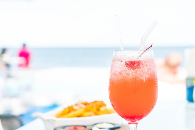 Colorful cocktail drink
