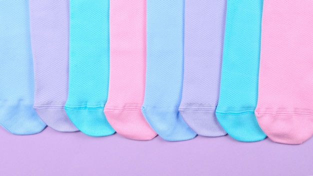 Colorful collection of cotton socks