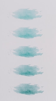 Colorful compostion with watercolor brushstrokes
