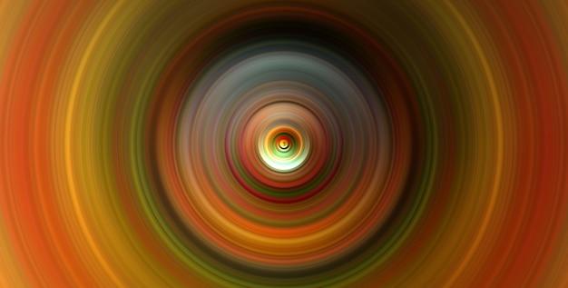 Красочные концентрические круги золотые графические цифровые произведения искусства