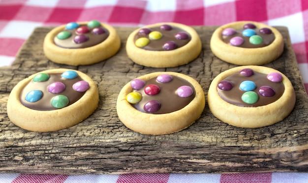 Colorful cookies glaze