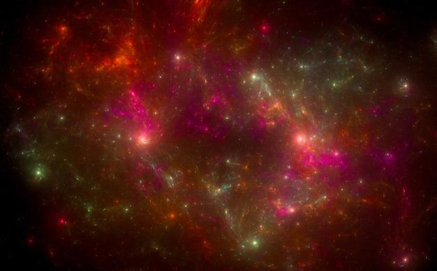 Красочный космический узор фона