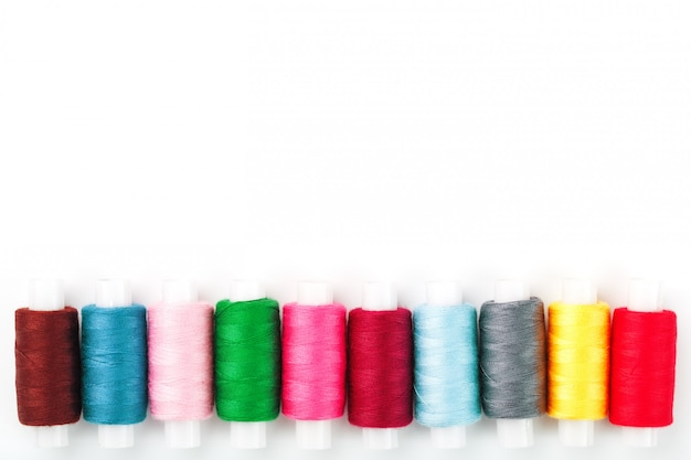 Colorful cotton craft sewing threads multicolored