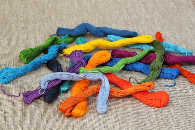 Colorful cotton craft threads