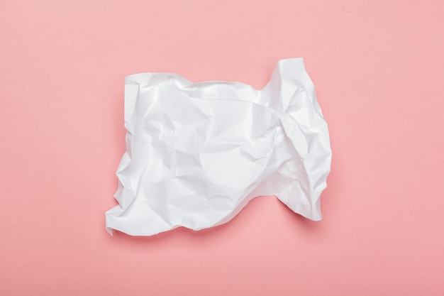 Colorful crumpled paper