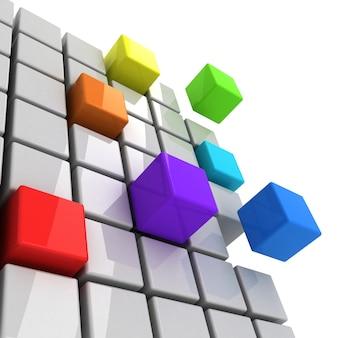 カラフルなキューブが分離したスペクトルを取得