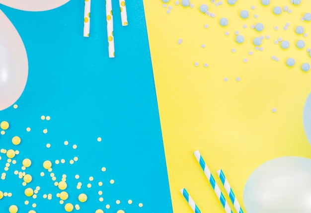 Colorful decorative birthday elements