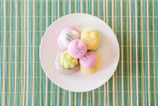 Colorful dessert mochi