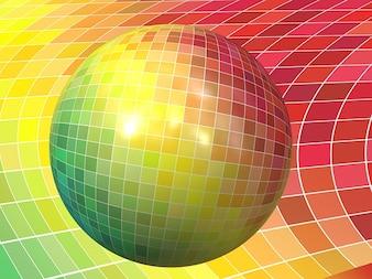 Colorful digital background color ball desktop
