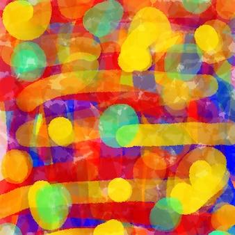 Красочная цифровая краска искусство абстрактный фон