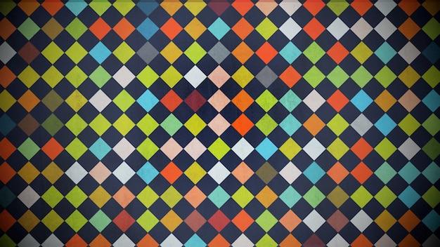 カラフルなドットパターン、抽象的な背景。エレガントで豪華な幾何学的なスタイルの3dイラスト