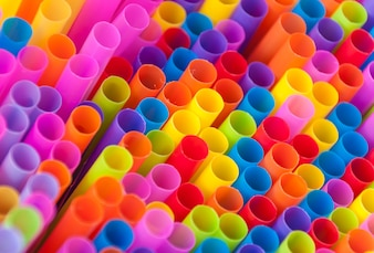 Colorful drink straws
