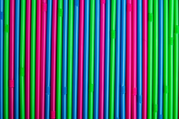 Colorful drinking straws for the color background.