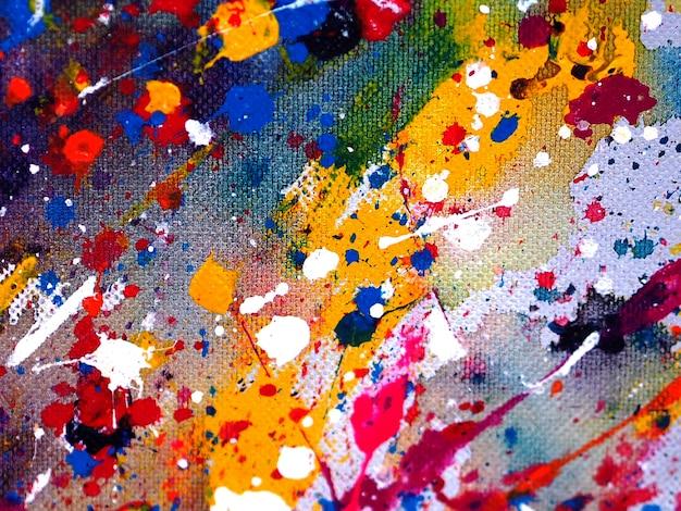 カラフルな滴の水彩画の抽象的な背景。