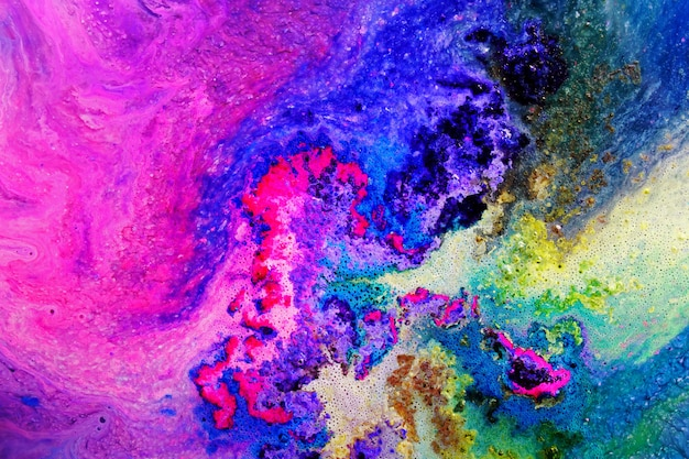 Colorful epoxy resin art