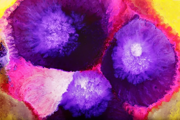 Colorful epoxy resin art