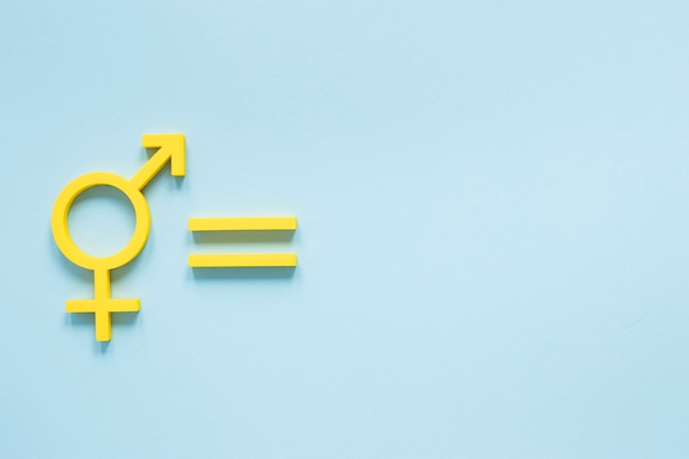 Colorful equal rights concept with flat design