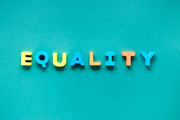 Colorful equal rights symbol concept