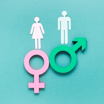 Colorful equal rights symbols concept