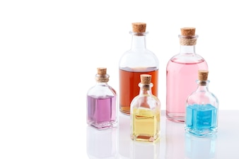 Colorful essential oils
