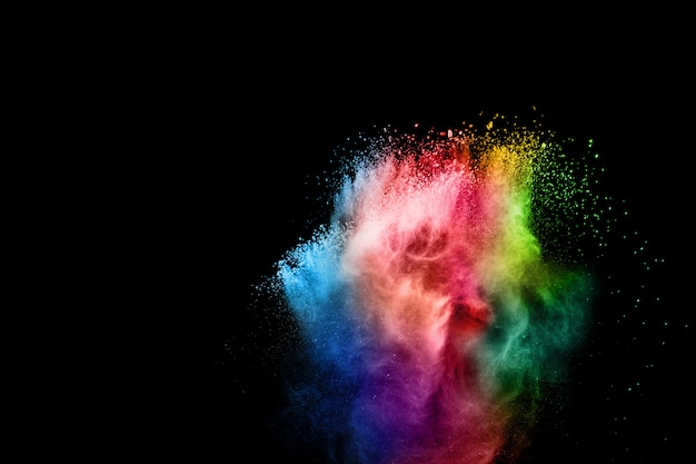 Colorful explosion for happy holi powder burst or splashing.