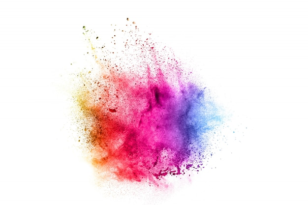Colorful explosion for happy holi powder.