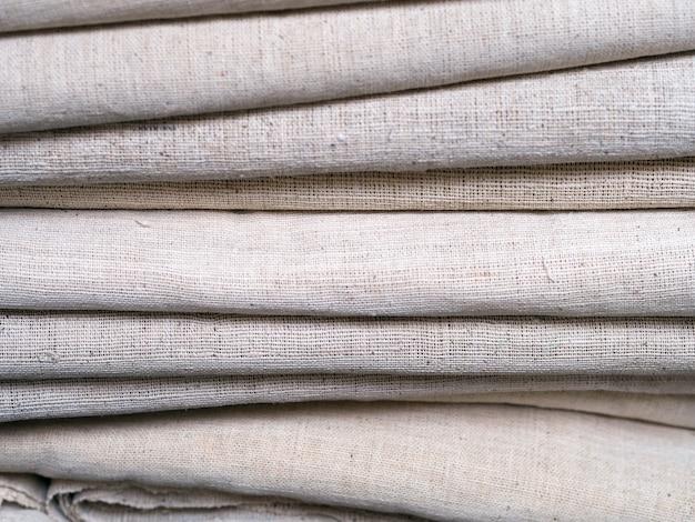 Colorful  fabrics row.
