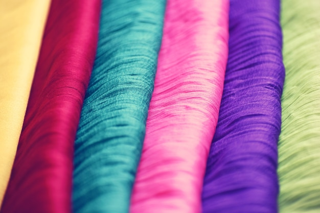Colorful fabrics for textile industry
