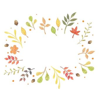 Красочные падающие осенние листья, осенняя рамка