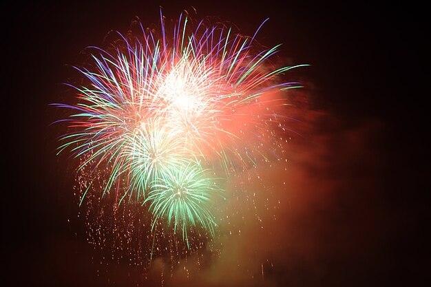 Colorful festival celebration firework city events