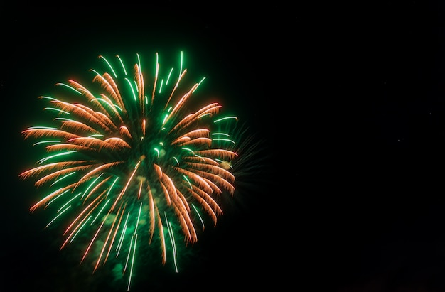 Colorful firework with copy space for new year celebration