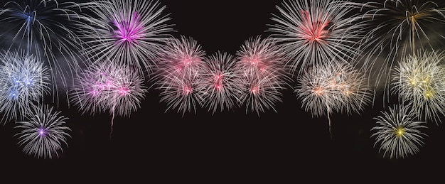 Colorful fireworks explosion
