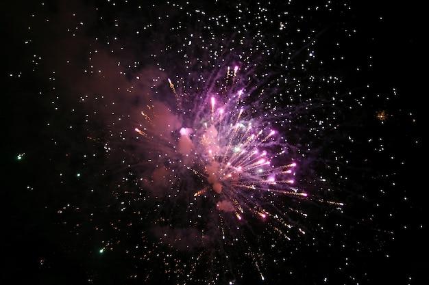 밤하늘에 화려한 불꽃 놀이