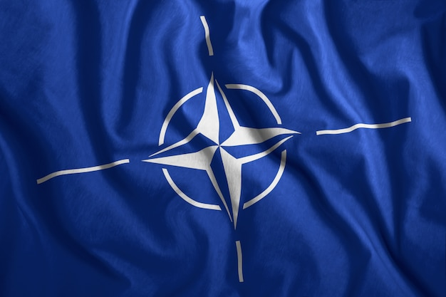 Colorful flag of nato