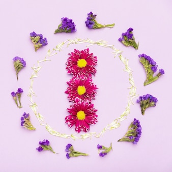 Colorful flower frame concept
