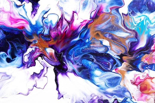 Красочная жидкость искусства абстрактного фона. цветочная тема