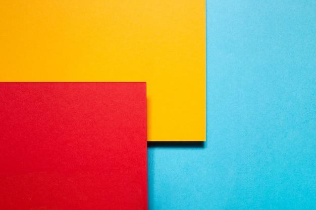 Colorful geometric cardboards