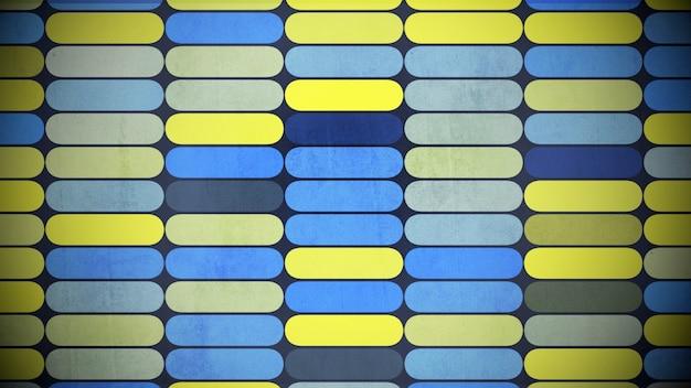 カラフルな幾何学的な形のパターン、抽象的な背景。エレガントで豪華な幾何学的なスタイルの3dイラスト