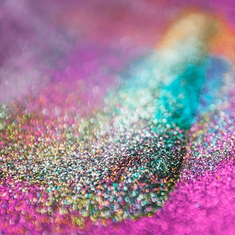 Colorful glitter bokeh lights background