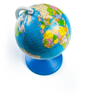 Colorful globe isolated against a white