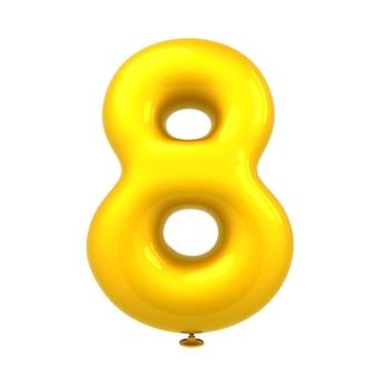 カラフルな光沢のあるバルーン番号