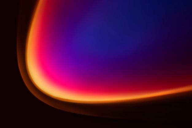 Sfondo sfumato colorato con luce led al neon
