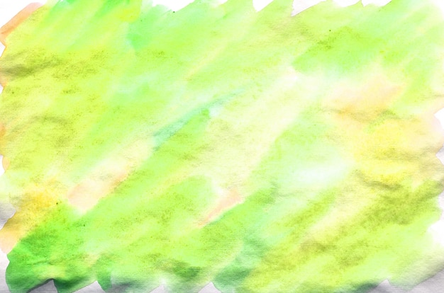 Colorful green and yellow watercolor background. aquarelle bright color